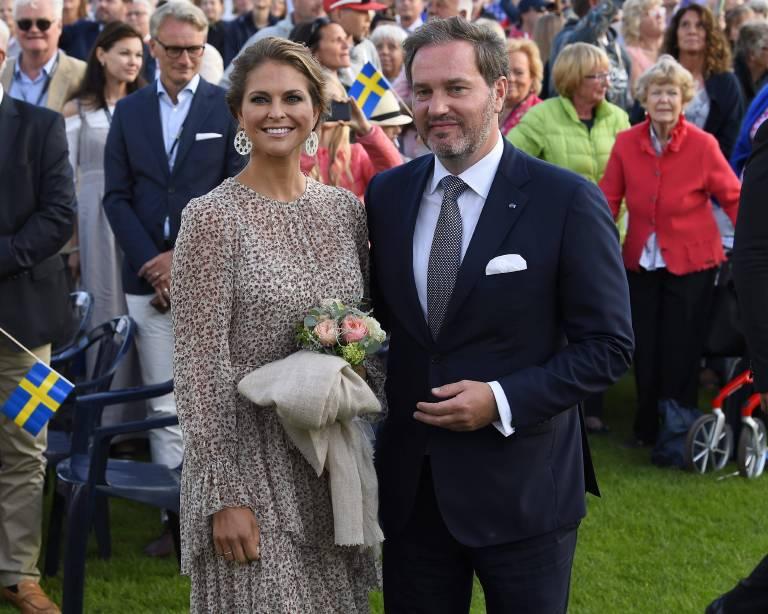 Prinzessin Madeleine und Chris O'Neill lassen Baby Adrienne an ihrem Hochzeitstag taufen.  Foto: imago/E-PRESS PHOTO.com