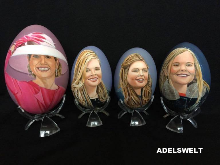Inzwischen gibt es schon über 100 Ostereier mit den Gesichtern der niederländischen Königsfamilie.   Foto:imago/PPE