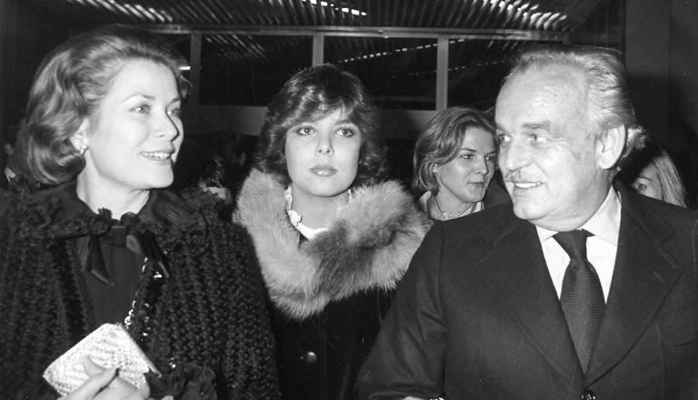 Prinzessin Caroline mit ihren Eltern Fürstin Gracia Patricia und Fürst Rainier.   Foto: imago/ZUMA Press