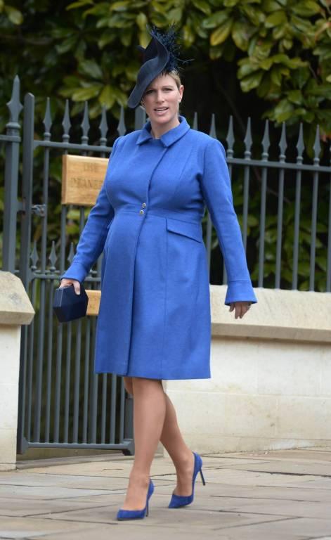Zara Tindall sieht bereits jetzt hochschwanger aus. Doch bis zur Geburt soll es noch dauern.    Foto:imago/Starface