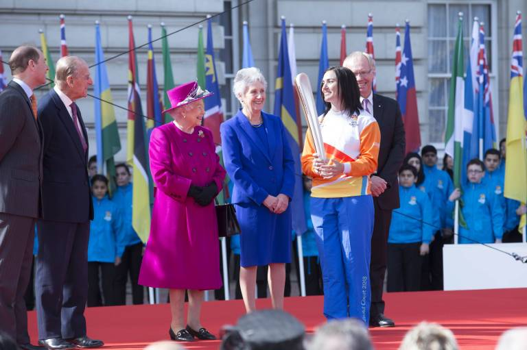 Queen Elizabeth bei einer Veranstaltung der Commonwealth Games.   Foto:imago/i Images