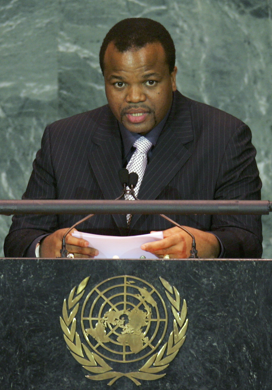 König Mswati ist mit 15 Frauen verheiratet. Eine von ihnen ist nun gestorben.   Foto: Getty Images