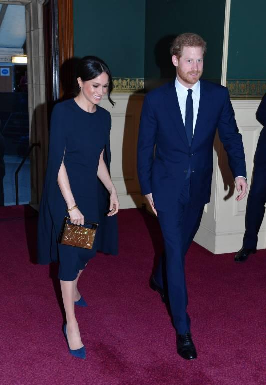 Partnerlook: Meghan Markle und Prinz Harry kamen beide in der Farbe Nachtblau.   Foto:imago/i Images
