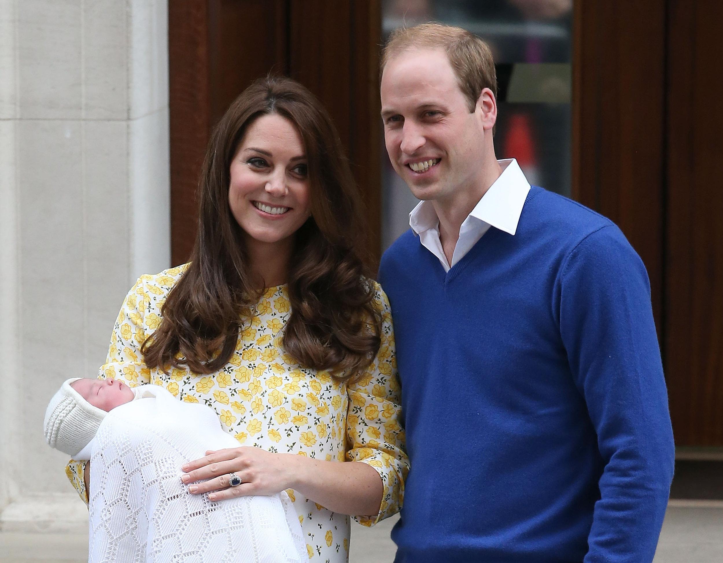 Überglücklich! Kate und William freuen sich über Töchterchen Charlotte.   Foto: Getty Images