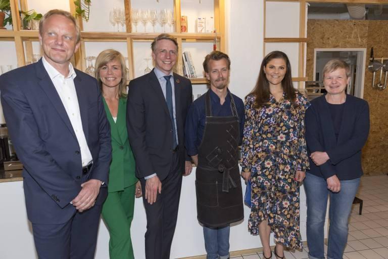 "In Stockholm besuchte die 40-Jährige das Restaurant ""Retaste"".  © imago/E-PRESS PHOTO.com"