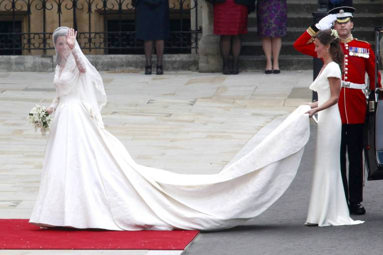 Die berühmteste Ehrenbrautjungfer der Geschichte: Pippa Middleton.  ©imago/Future Image