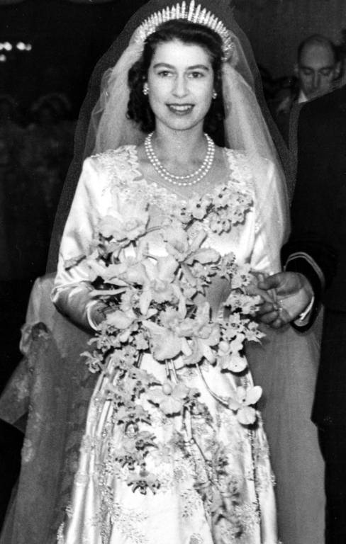 Queen Elizabeth heiratete am 20. November 1947 Prinz Philip.  ©imago/United Archives International
