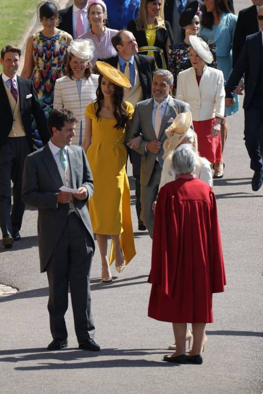 Mit Amal und George Clooney hatte niemand gerechnet.  ©Imago