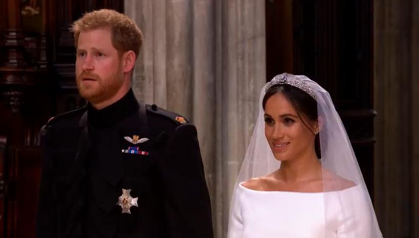 Für Prinz Harry war die Hochzeit sehr emotional.  ©Screenshot Live-Übertragung Royal Wedding