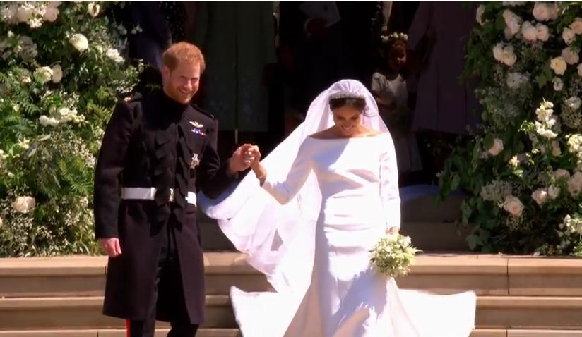Die Anspannung ist von ihnen abgefallen.  ©Screenshot Live-Übertragung Royal Wedding