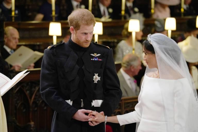 Der Brite war ganz hingerissen von seiner wunderschönen Braut.  ©imago/Xinhua