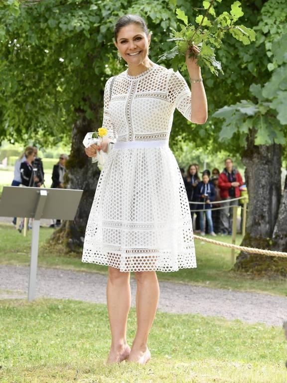 Auf Schloss Strömsholm feierte die Schwedin mit ihren Landsleuten den heutigen Feiertag  ©imago/E-PRESS PHOTO.com