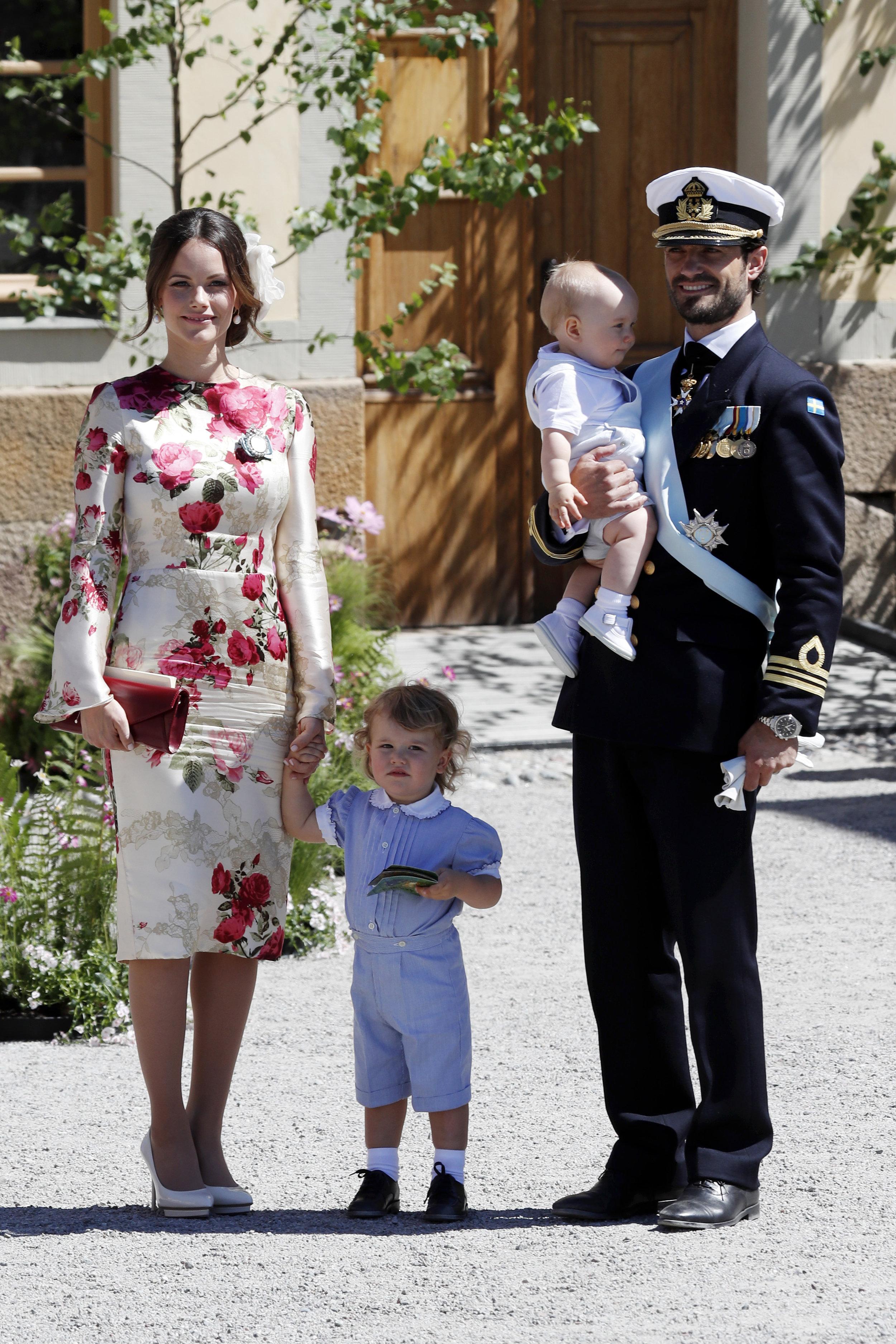 Prinz Alexander und Prinzessin Sofia setzen eine rührende Hommage an Carl Philip.  ©Getty Images