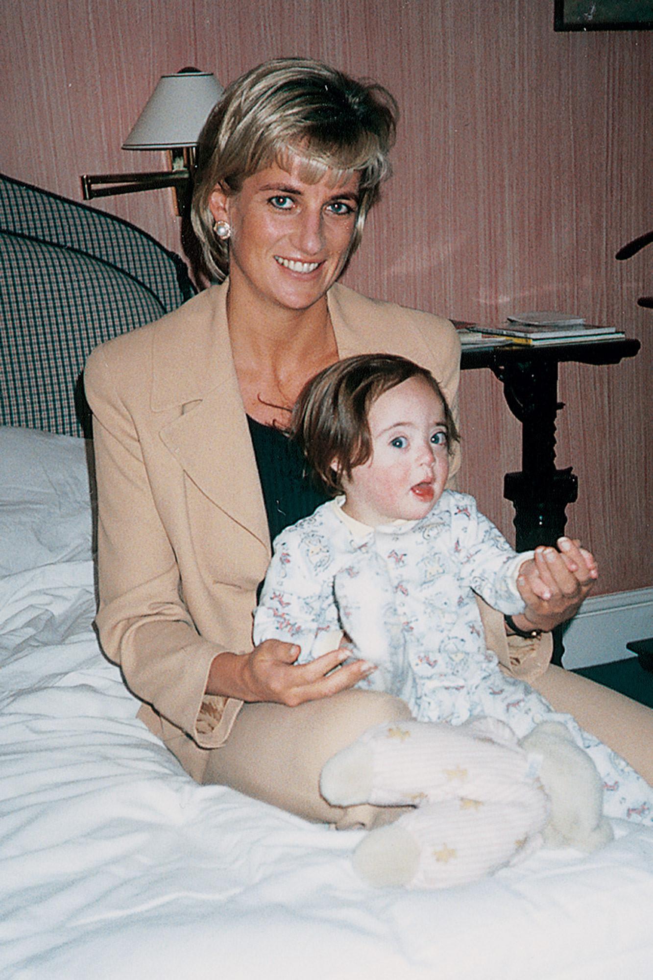Domenica war eines von 17 Patenkindern der britischen Prinzessin.  Foto: Privat
