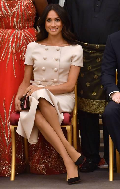 """Zeitlos elegant. Bei den """" Queen's Young Leaders Awards"""" machte Herzogin Meghan eine gute Figur.  ©imago/i Images"""
