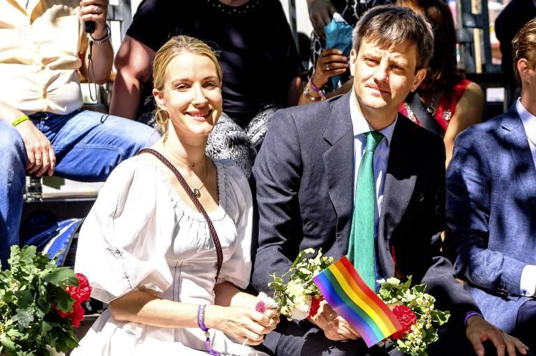 Prinzessin Ekaterina und Prinz Ernst August von Hannover feierten beim Schützenfest mit.  ©imago/Future Image