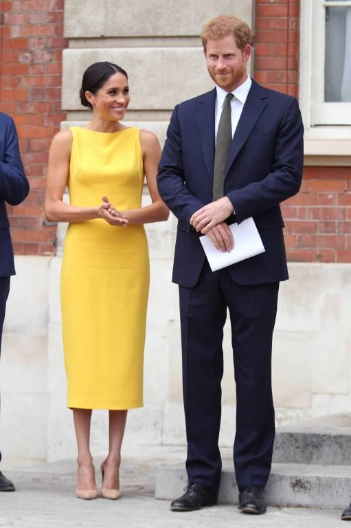 """Herzogin Meghan und Prinz Harry beim """"Your Commonwealth""""-Event vor dem Marlborough House.  ©imago/i Images"""
