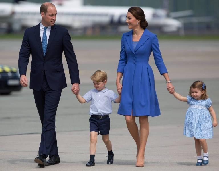 Staatsbesuch in Polen: Familie Cambridge hat sich farblich abgestimmt.  ©imago/Forum