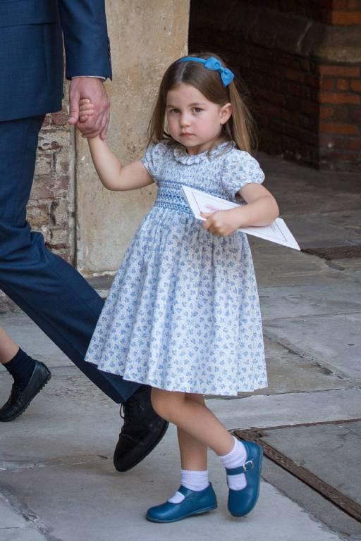 Prinzessin Charlotte trug bei der Taufe von Prinz Louis wieder einmal ein hellblaues Kleid.  ©imago