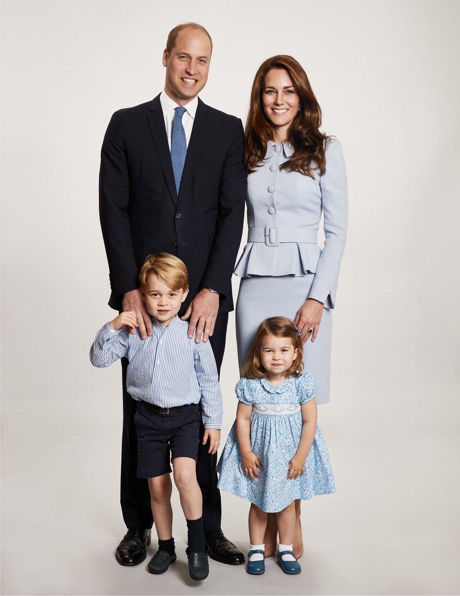 Blau ist übrigens auch die Lieblingsfarbe von Prinz William.  ©Kensington Palace via Twitte