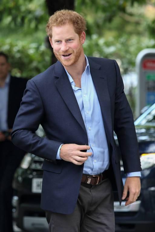 Prinz Harry nimmt seinen Haarausfall mit Humor.  ©imago/APress