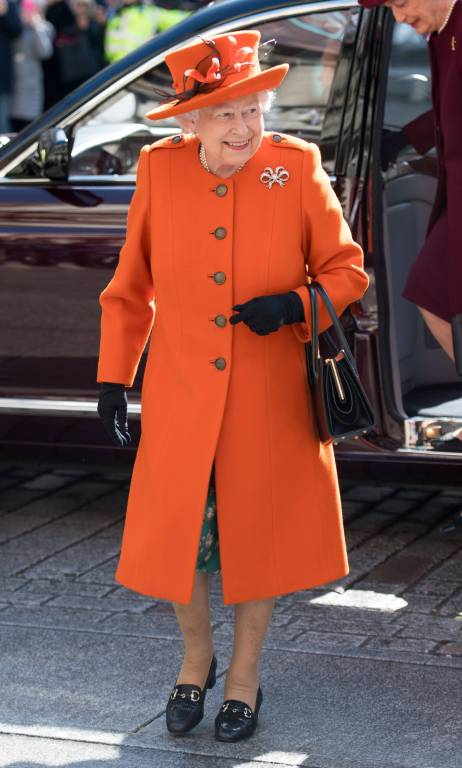 Auffallen um jeden Preis. Queen Elizabeth trägt gerne knallige Farben.  ©imago/PA Images