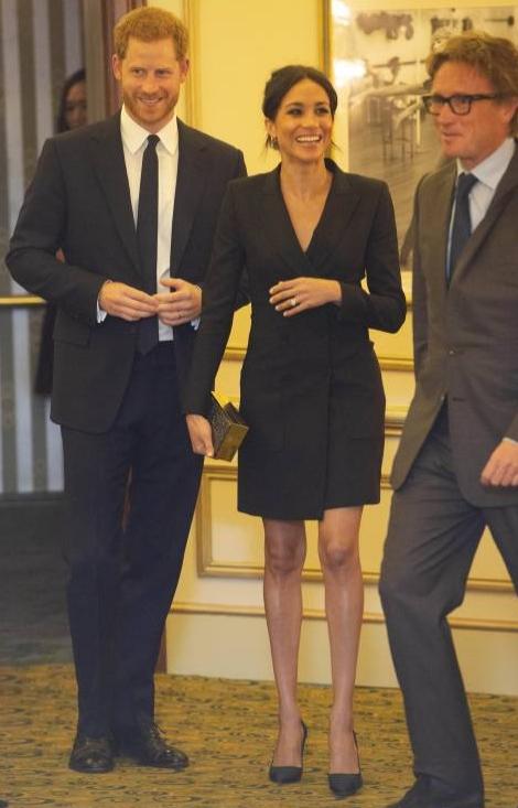 """Prinz Harry und Herzogin Meghan sammelten mit ihrem Auftritt beim Musical """"Hamilton""""Geld für seine Stiftung """"Senetable"""".  ©imago"""