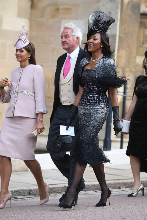 Supermodel Naomi Campbell ist unter den Gästen.  ©imago
