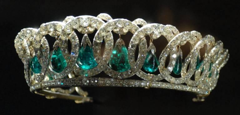 """Die wunderschöne  """"Vladimir Tiara""""  wurde 2006 ausgestellt. Queen Elizabeth trug sie zuletzt 2014.  ©imago /ZUMa PRess"""
