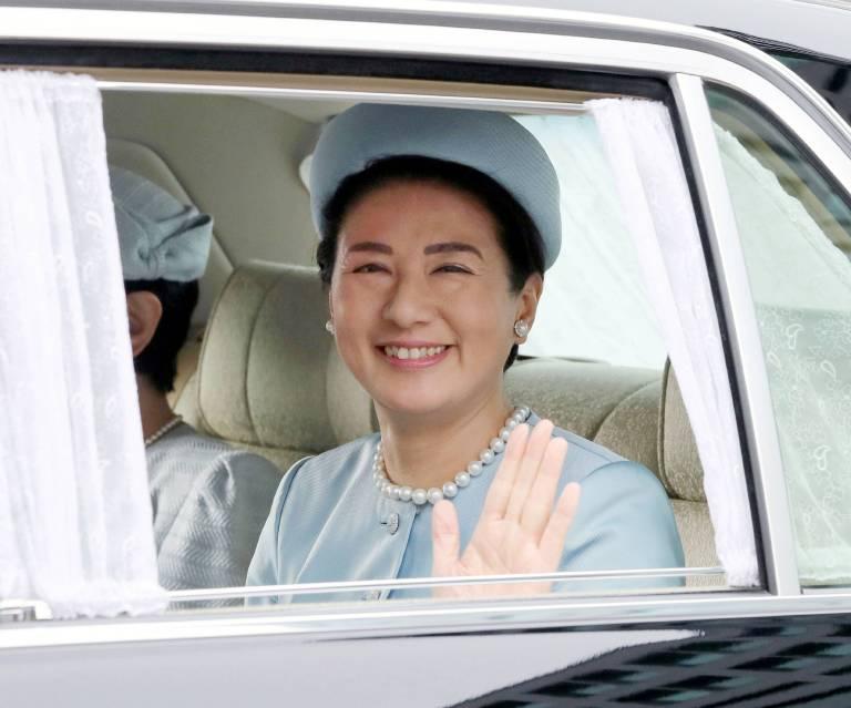 Lächeln, winken, Hände schütteln – Masako wird bald die wichtigste Frau in Japan sein.  ©imago/Kyodo News