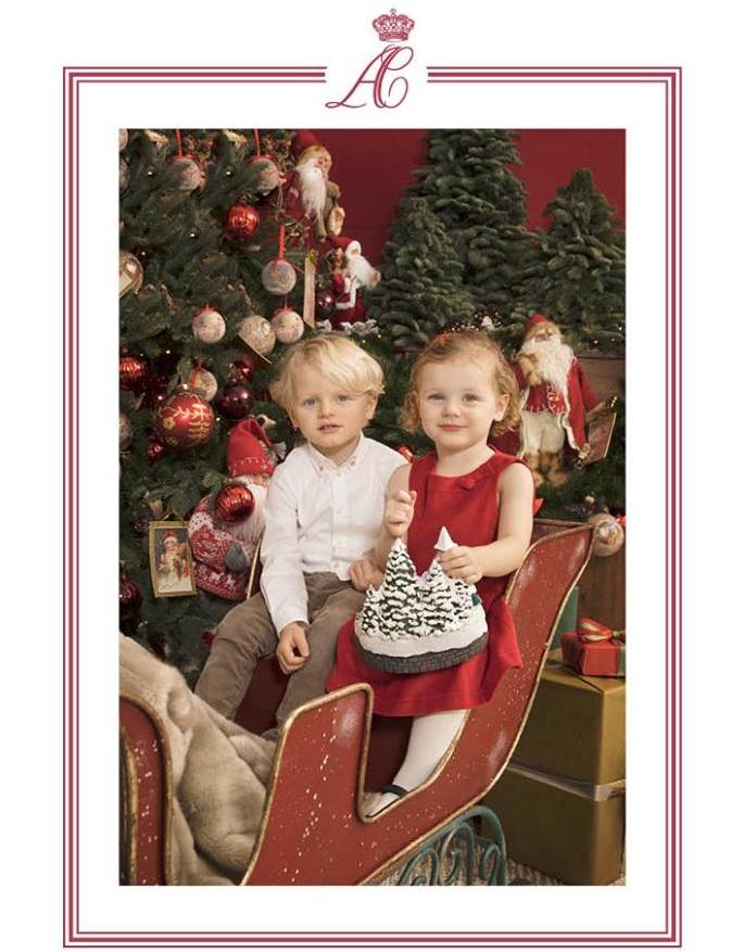 2017 verschicke der Palast diesen süßen Weihnachtsgruß von Jacques und Gabriella.  ©Palais Princier de Monaco - Prince's Palace of Monaco