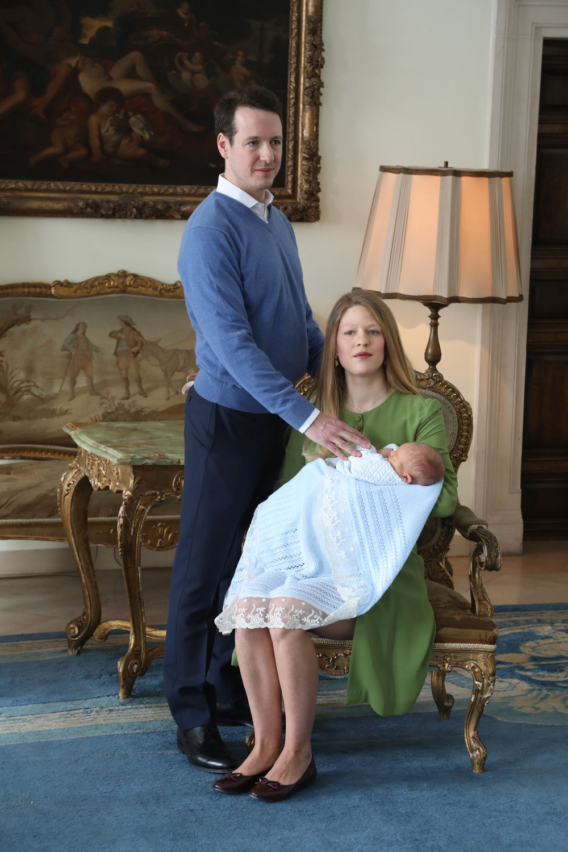 Prinz Stefan wurde erst  vor wenigen Tagen getauft .  ©Royal Palace Belgrad