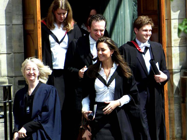Kate Middleton lernte ihren Traumprinzen an der Uni kennen, wo das Paar 2005 seinen Abschluss machte.  ©imago/ZUMA Press