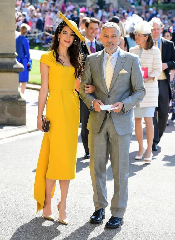 George Clooney und seine Frau Amal sind mit Meghan und Harry befreundet. Sie waren auch zu Gast bei ihrer Hochzeit im Mai 2018.  ©imago/i Images