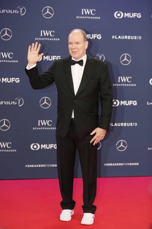 Fürst Albert besuchte die Laureus World Sports Awards in Monaco.  ©imago/Peter Seyfferth