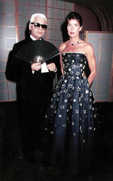 Prinzessin Caroline lernte den Modezar bereits als Teenager kennen. Seitdem waren sie befreundet.  ©imago