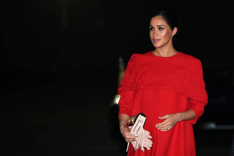 Herzogin Meghan soll etwa in der 30. Schwangerschaftswoche sein. Vor wenigen Tagen war sie noch in New York, um eine Party für ihr ungeborenes Kind zu feiern.  ©imago