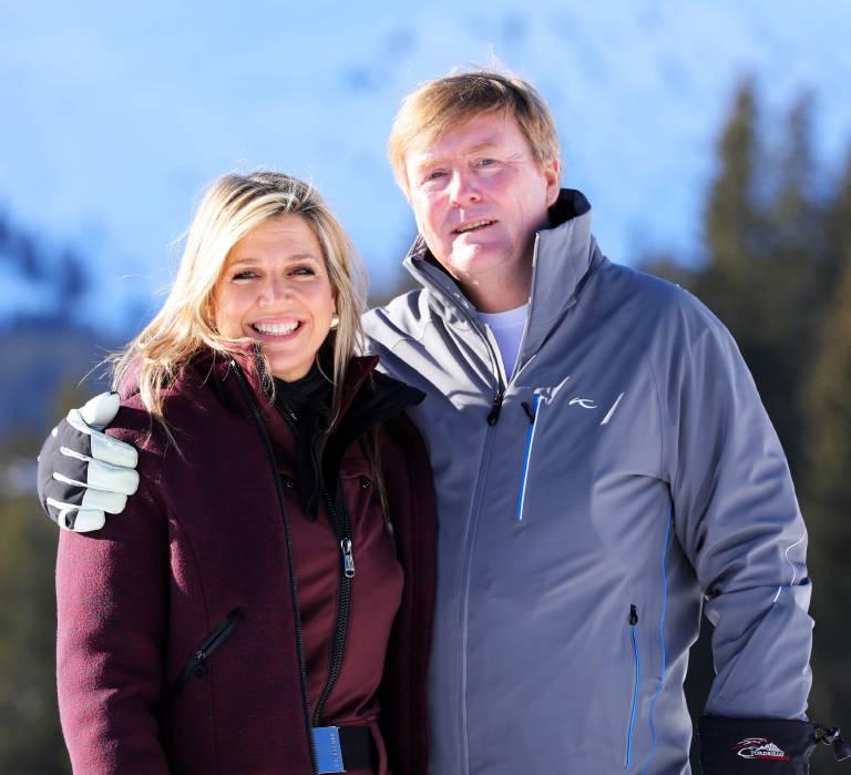 Endlich einmal ausspannen. Königin Maxima und König Willem-Alexander werden ihren Ski-Urlaub in Lech sicher genießen.  ©imago/PPE
