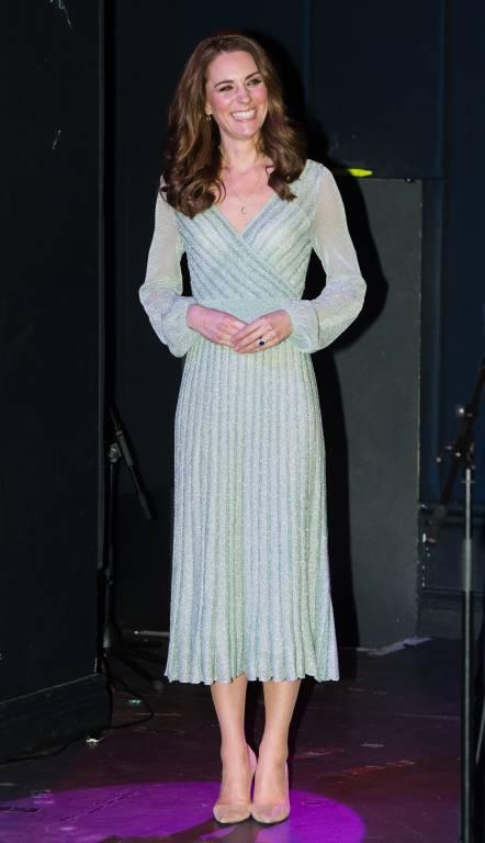 Herzogin Kate strahlt in einem grünen Kleid von Missoni.  ©imago