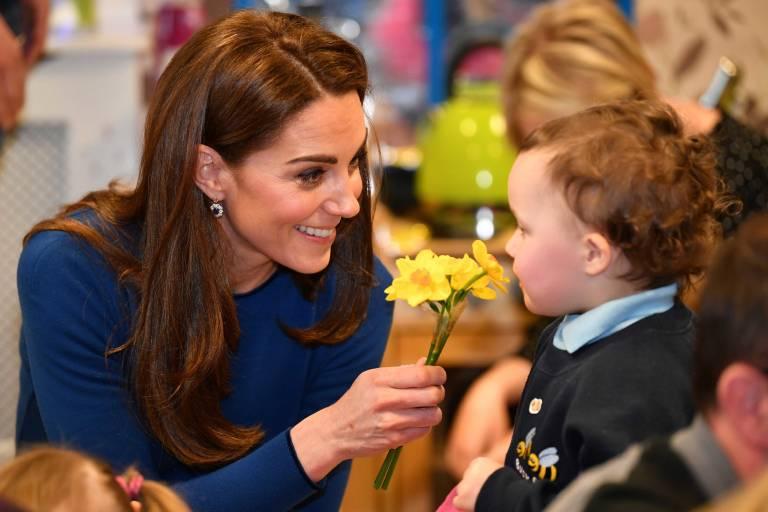 Die kinderliebe Herzogin Kate träumt von weiterem Nachwuchs.  ©imago