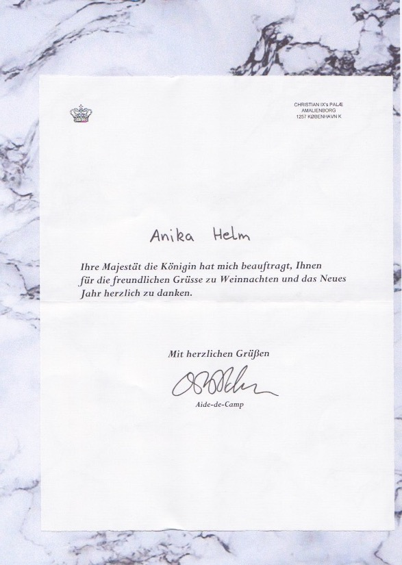Grüße auf Deutsch von Königin Margrethe.  ©ADELSWELT