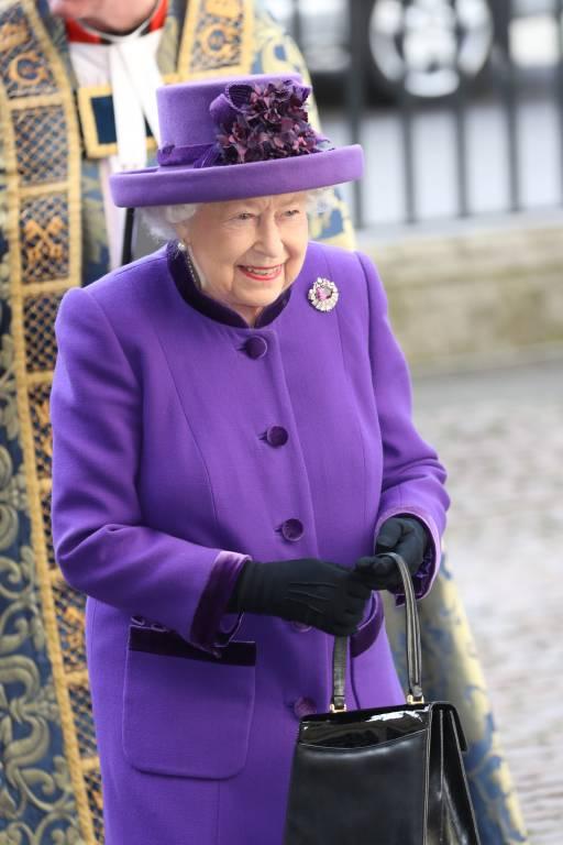 Queen Elizabeth auf dem Weg in die Westminster Abbey  ©imago
