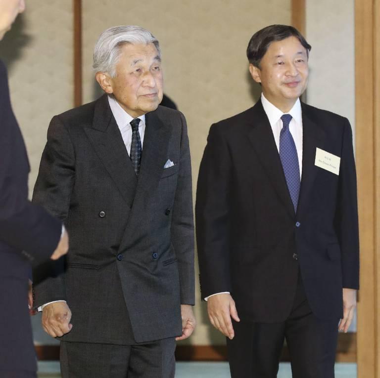 Kaiser Akihito dankt zu Gunsten seines ältesten Sohnes Kronprinz Naruhito ab.  ©imago/Kyodo News