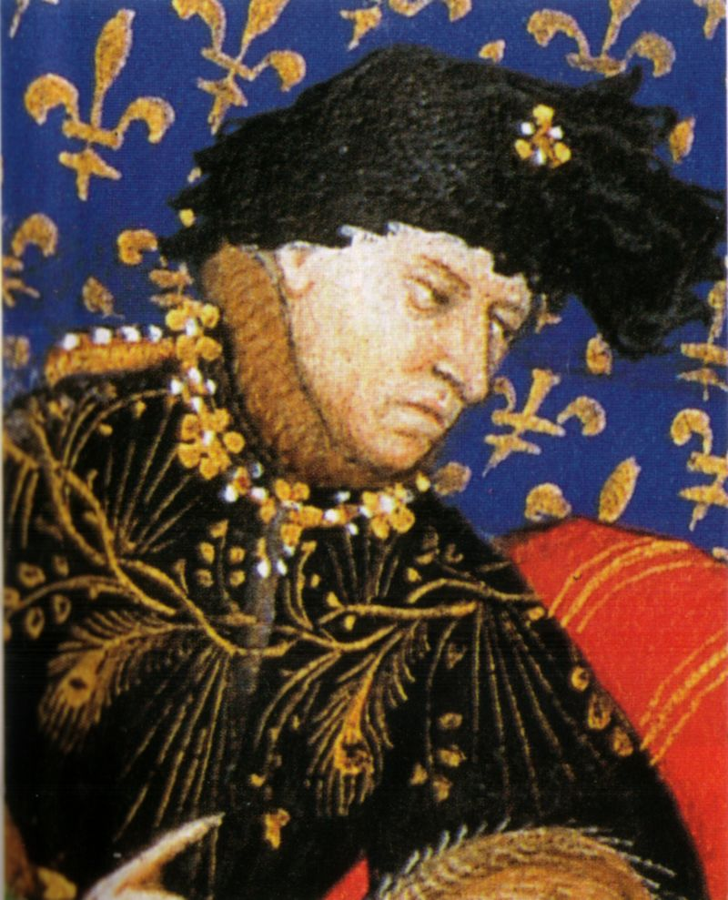 Karl VI., auch Charles genannt, wurde endgültig wahnsinnig, als vier Gäste mit ihren Perücken bei einem Ball Feuer fingen.  ©Gemeinfrei