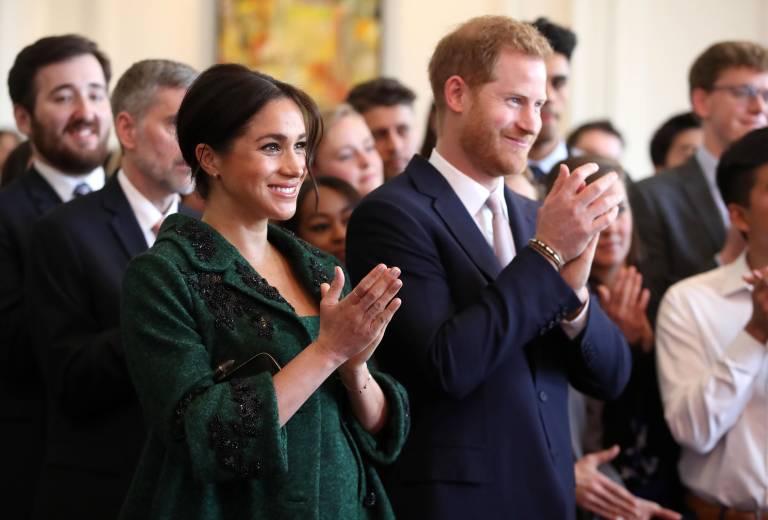 Herzogin Meghan und Prinz Harry werden in Kürze zum ersten Mal Eltern. Babysachen haben sie genug.  ©imago images / i Images