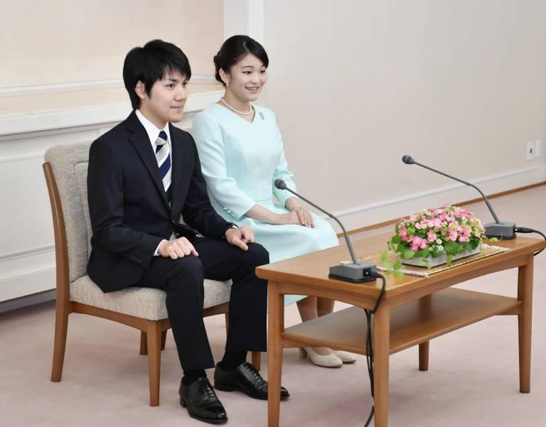 Ob Prinzessin Mako und Kei Komuro wirklich jemals heiraten werden, steht noch in den Sternen. ©imago images / Kyodo News