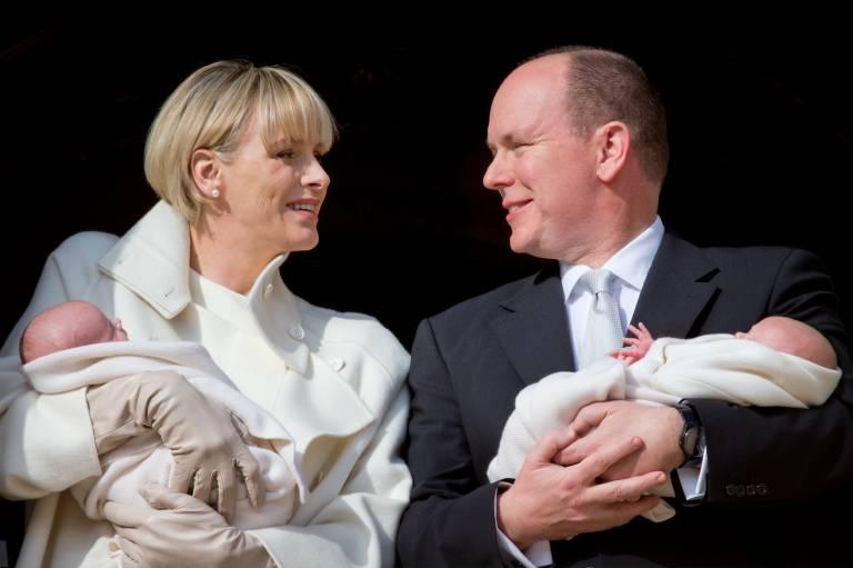 Im Dezember 2014 wurden Fürstin Charlène und Fürst Albert Eltern der Zwillinge Jacques und Gabriella.  ©imago images / ZUMA Press