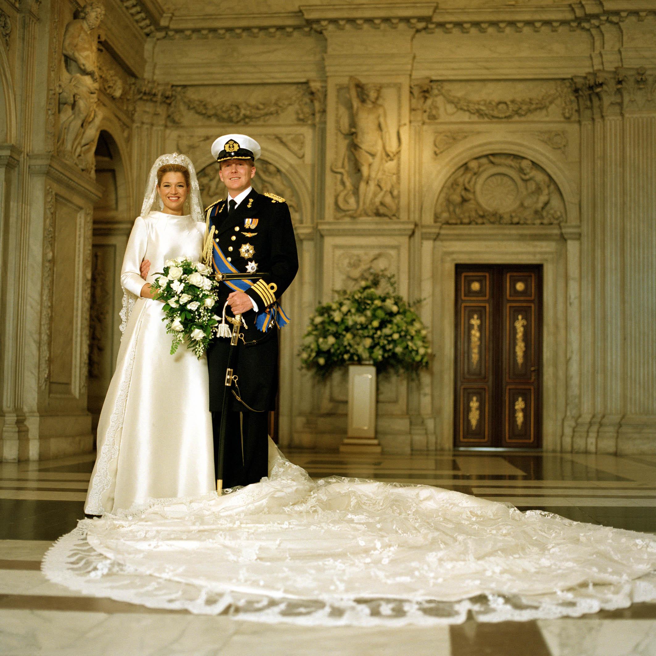 Seit 2002 sind Maxima und Willem-Alexander verheiratet. Die Hochzeit war jedoch umstritten.  © RVD - Jeroen van der Meyde
