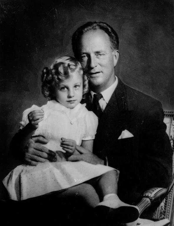 Prinzessin Marie-Christine mit ihrem Vater, dem früheren König Leopold III.  © i mago images / Belga