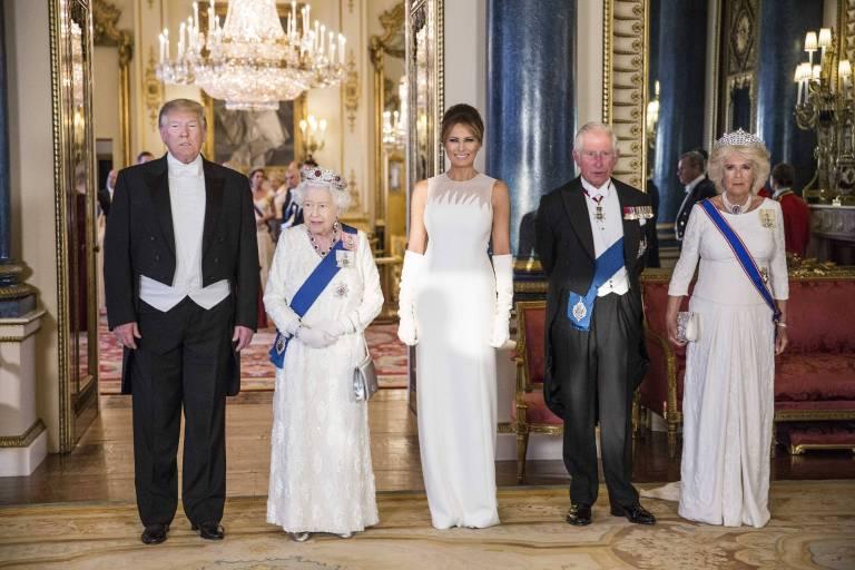 Der Besuch von Donald und Melania Trump im Buckingham Palace sorgt für Aufruhr.  ©imago images / Starface